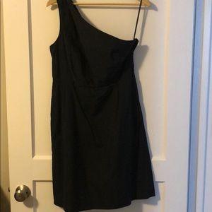 J.Crew One Shoulder Black Dress